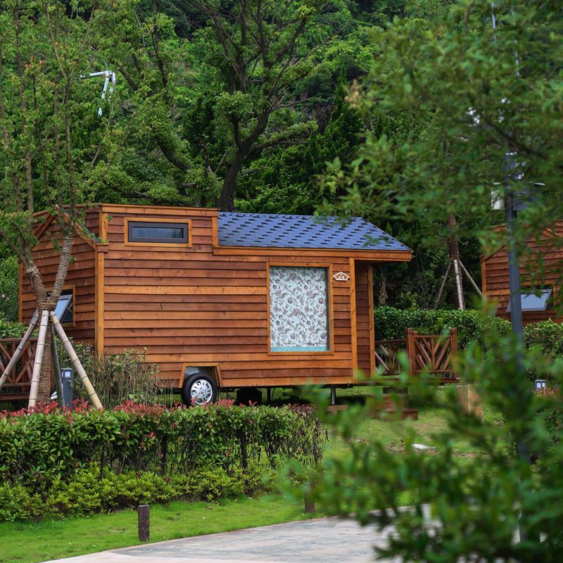 景观木屋是旅游胜地的风景线!