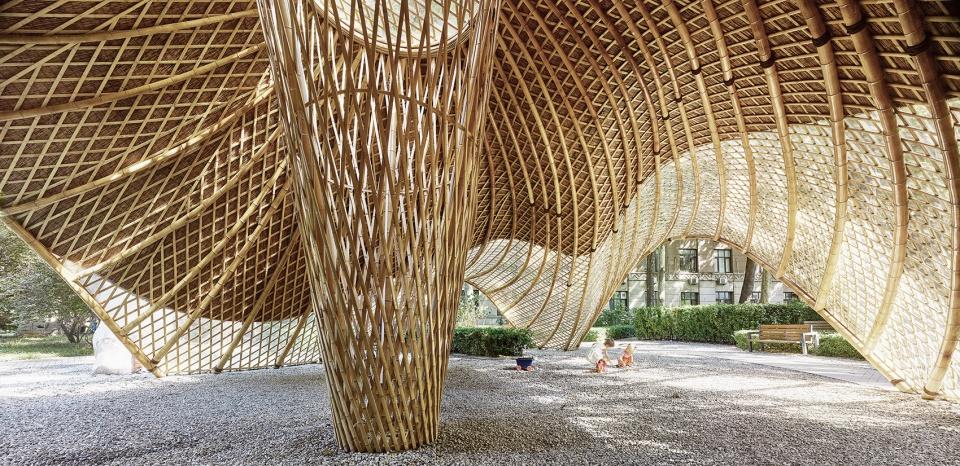 树林里的亭子——装配式建筑