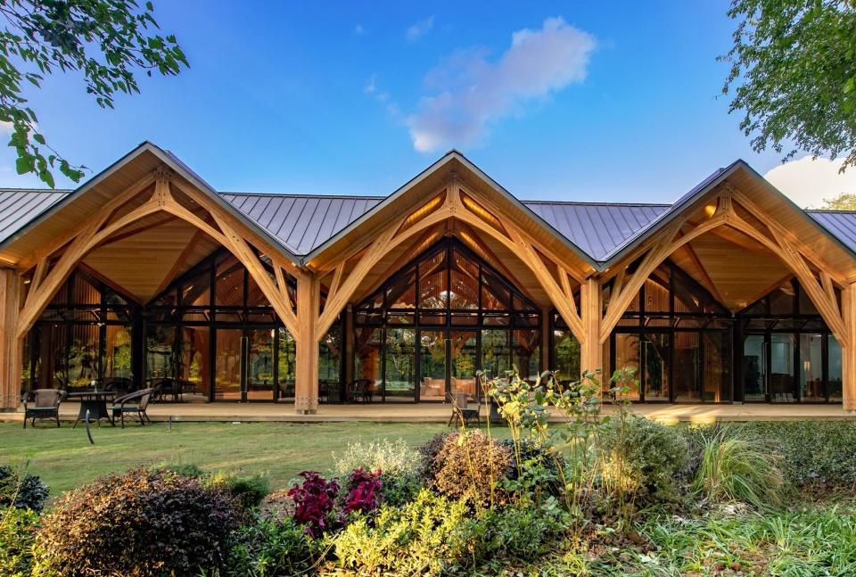 木结构的自然木材
